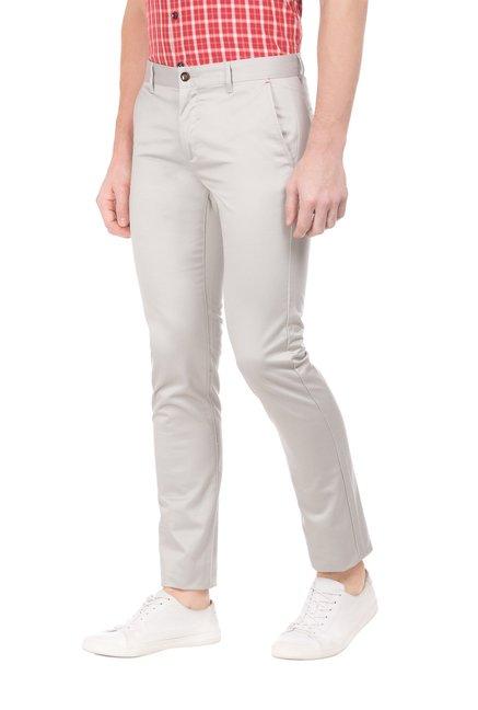 Arrow Sport Light Grey Slim Fit Trousers