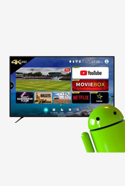CloudWalker 109 cm  43 Inches  Android Smart Ultra HD 4K LED TV CLOUD TV 43SU  Black