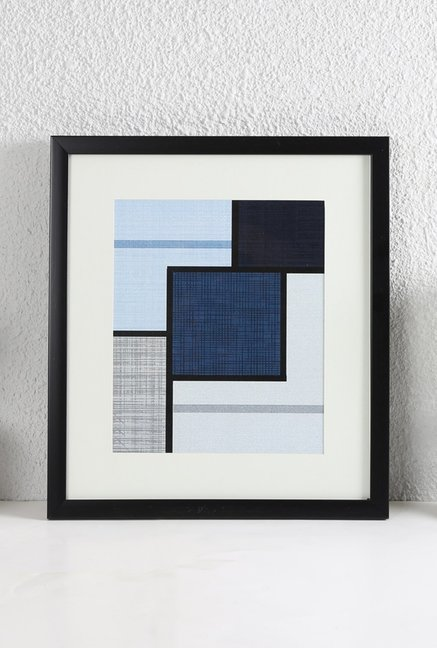 House This Blue & White Digital Print Wood Wall Art