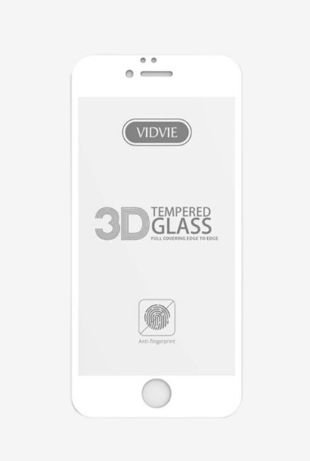 Vidvie GLPL1306 Clear Tempered Glass for Apple iPhone 6 Plus, 6s Plus with Installation Kit  White