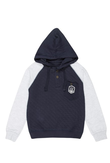 8db4fc81 Buy Cherokee Kids Navy Quilted Hoodie for Boys Clothing Online @ Tata CLiQ