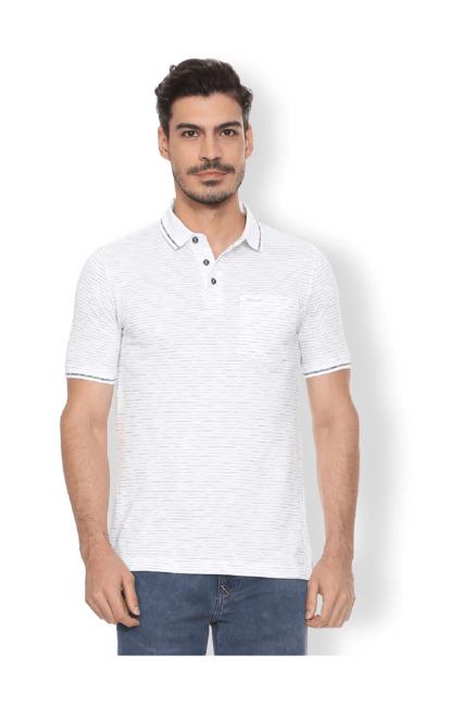 817f2e4f Buy Van Heusen White Regular Fit Polo T-Shirt for Men Online @ Tata CLiQ