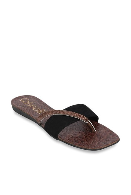 d9afcca23 Buy Catwalk Black   Copper Casual Sandals for Women at Best Price ...