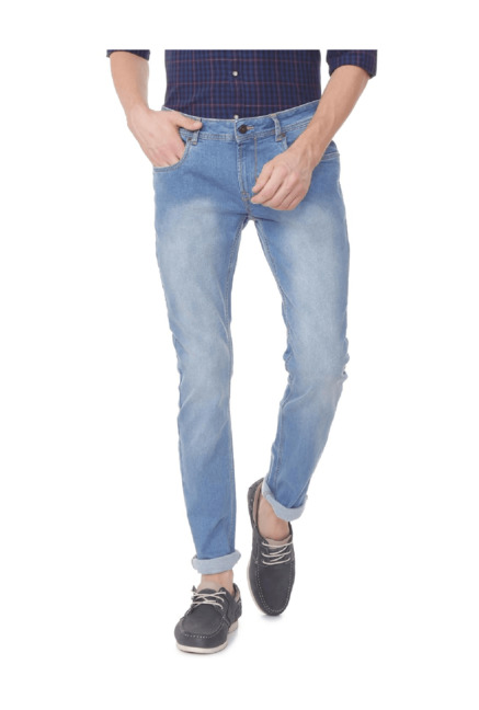 d331d2dd Buy Peter England Blue Skinny Fit Jeans for Men Online @ Tata CLiQ