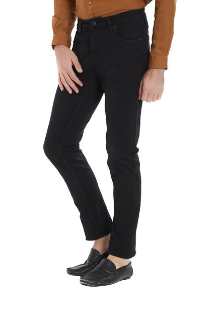 Integriti Black Slim Fit Lightly Washed Jeans
