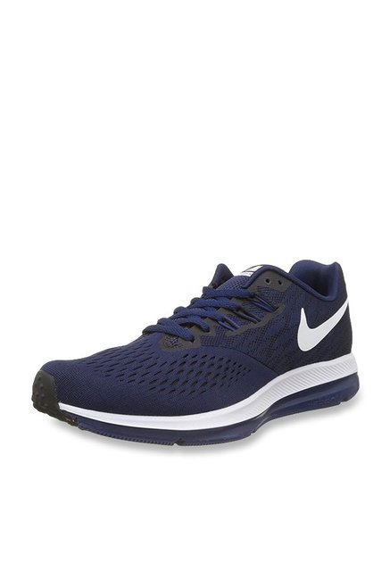 52a9e3f64326e Buy Nike Zoom Winflo 4 Binary Blue   Black Running Shoes for Men ...