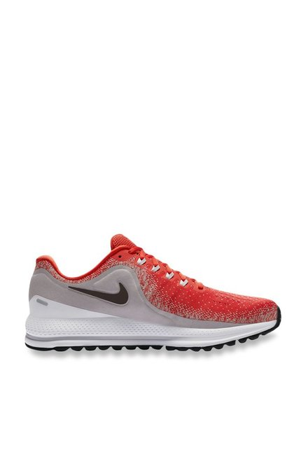 df2652cfb27d5 Buy Nike Air Zoom Vomero 13 Habanero Red   Grey Running Shoes for Men at  Best Price   Tata CLiQ