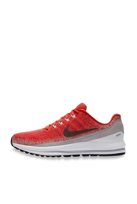 2de1f21ba1bec Buy Nike Air Zoom Vomero 13 Habanero Red   Grey Running Shoes for ...