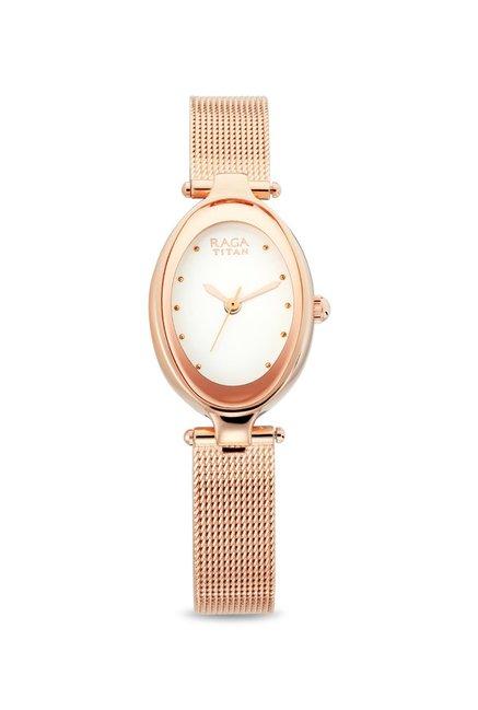 Buy Titan Raga 2471wm01 Rose Gold Refresher Analog Watch For Women