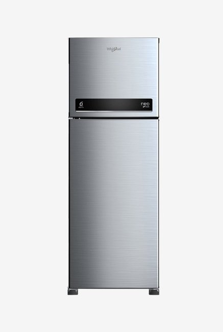 Whirlpool 265 L 3 Star Frost Free Double Door Refrigerator  Cool Illusia Steel, NEO DF278 PRM