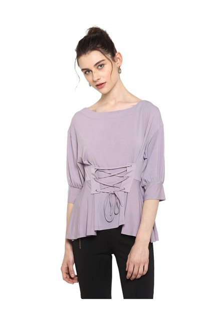 29cd5bff5ffeb Buy Kazo Purple Relaxed Fit Top for Women Online   Tata CLiQ