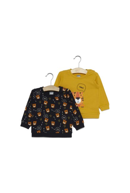 5bd6d0da7 Buy Baby HOP by Westside Navy Print T-Shirt Set Of Two for Infant Boys  Clothing Online @ Tata CLiQ