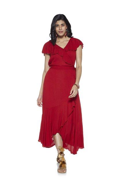 2dcb36701b Buy LOV by Westside Red Bria Ruffled Dress for Women Online ...