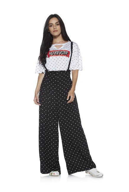 c39098454 Buy Nuon by Westside Black Pants With Suspenders for Women Online   Tata  CLiQ