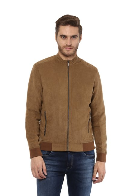 6327293b9 Buy Mufti Khaki Full Sleeves Jacket for Men Online @ Tata CLiQ