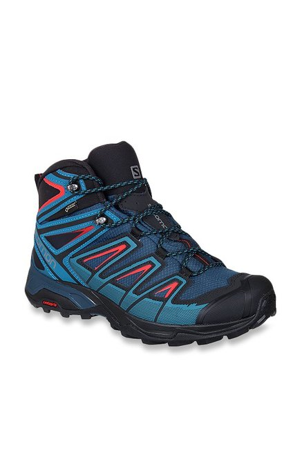 680e5ff98a8 Buy Salomon X Ultra 3 Mid GTX Blue Hiking Shoes for Men at Best ...