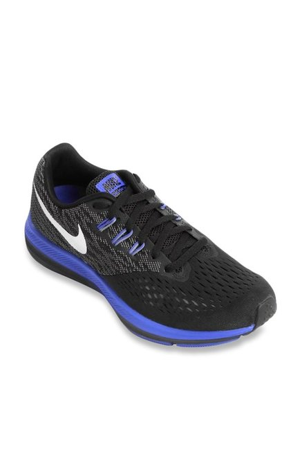 ca9ffa34e84a Buy Nike Zoom Winflo 4 Black Running Shoes for Men at Best Price   Tata CLiQ