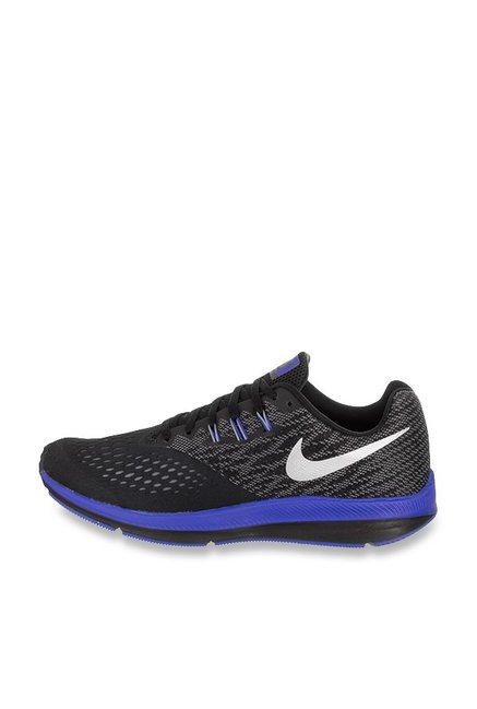 best service b626c 97c0d Buy Nike Zoom Winflo 4 Black Running Shoes for Men at Best ...