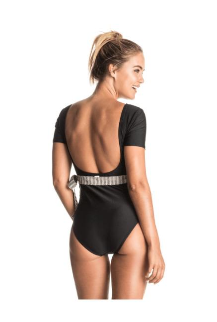 8b3c335bbf3bf Buy Roxy Black Nylon Swimsuit for Women Online   Tata CLiQ