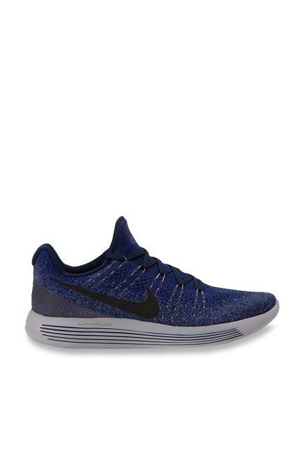 outlet store 73959 d1a43 Buy Nike Lunarepic Low Flyknit 2 Navy Running Shoes for Men ...