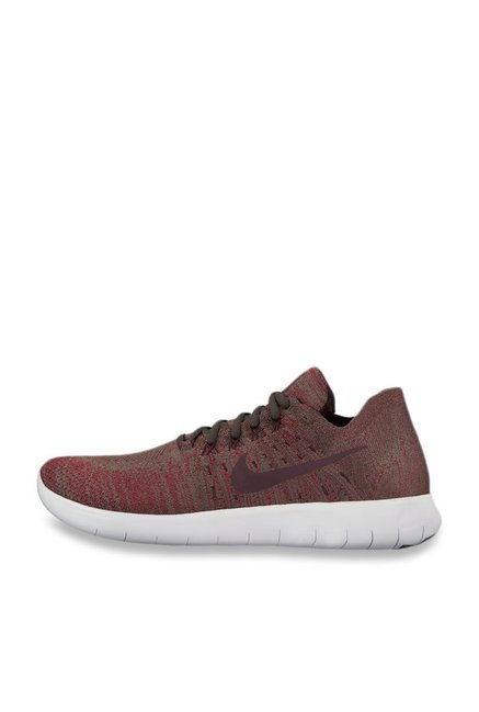 d64de6ced5fb Buy Nike Free RN Flyknit 2017 Brown Running Shoes for Men at Best ...