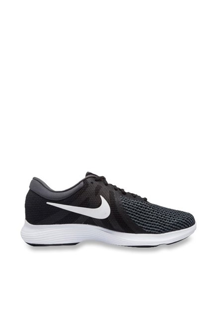 dfa3372b603 Buy Nike Revolution 4 Black Running Shoes for Men at Best Price   Tata CLiQ
