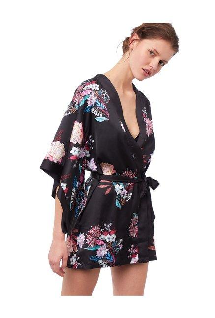 64ce72bfe2596 Buy ETAM Paris Black Floral Print Robe for Women Online @ Tata CLiQ