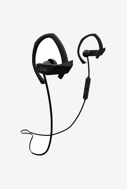 Leaf Sport Wireless Bluetooth Earphone With Mic  Black
