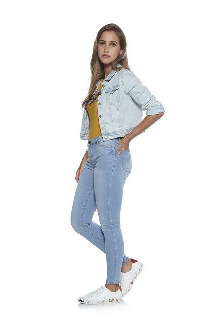 98ae3c6bb Buy Nuon by Westside Light Blue Denim Trucker Jacket for Women ...