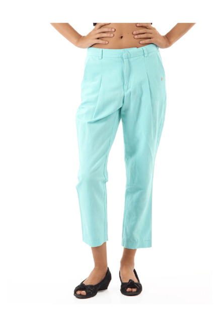 Buy Pepe Jeans Blue Regular Fit Pleated Culottes for Women