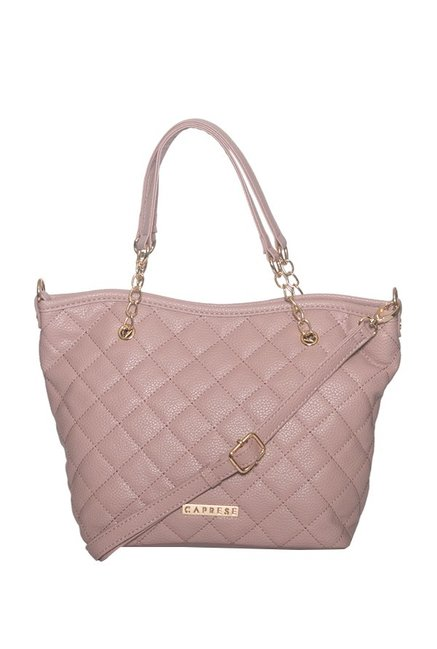 Buy Caprese Sienna Pink Textured Quilted Shoulder Bag For Women At Best  Price   Tata CLiQ 58e9124ef0