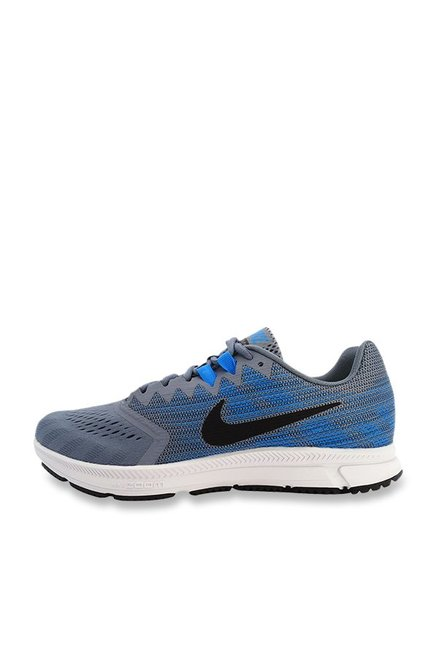 best authentic 9afb9 17765 Buy Nike Zoom Span 2 Blue & Grey Running Shoes for Men at ...