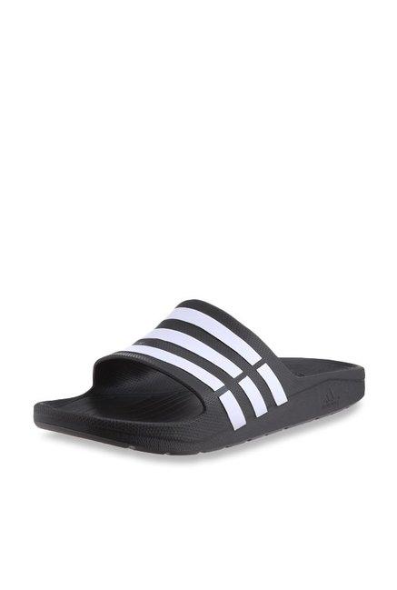 f31051760398 Buy Adidas Duramo Black Casual Sandals for Men at Best Price   Tata CLiQ