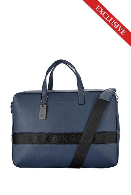 2ceba98178 Caprese Alia Bhatt s Collection Kate Navy   Black Laptop Messenger Bag