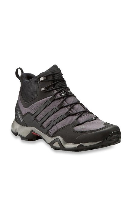 a105ee253 Buy Adidas Terrex Swift R Mid Granite   Black Outdoor Shoes for Men at Best  Price   Tata CLiQ