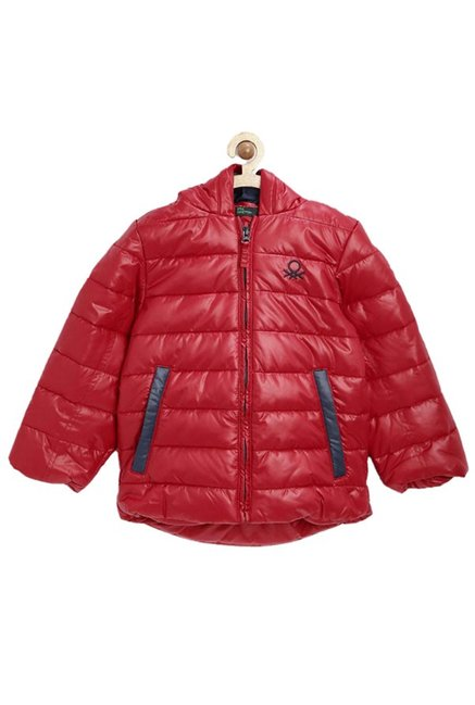 9b959d1d5e67 Buy United Colors of Benetton Kids Red Quilted Hoodie for Boys ...
