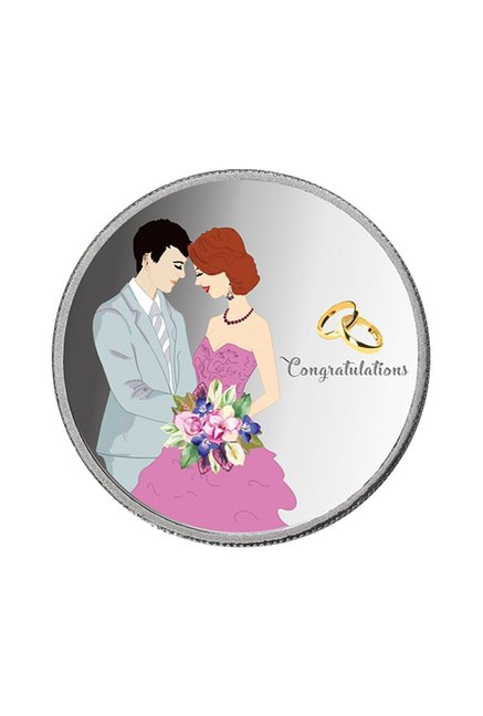 Buy Taraash Newly Married Couple 999 10 Gm Silver Coin Online At