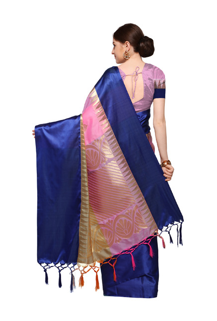 e52564fd40abff Buy Varkala Silk Sarees Lavender   Peach Silk Saree With Blouse for ...
