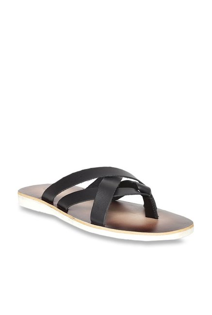 23137b42b6aa Buy United Colors of Benetton Black Thong Sandals for Men at Best ...