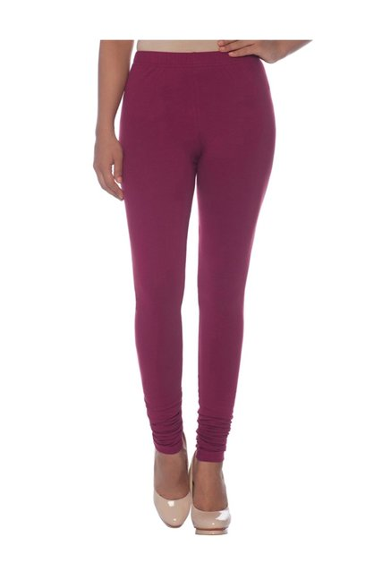 002dfbcf3d Buy Naari Maroon Cotton Churidar Leggings for Women Online @ Tata CLiQ