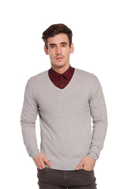 1de966d7c92c Buy Blackberrys Grey V Neck Sweaters for Men's Online @ Tata CLiQ