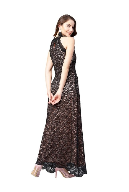 773ec9b7b0 Buy Athena Black Lace Maxi Dress for Women Online @ Tata CLiQ
