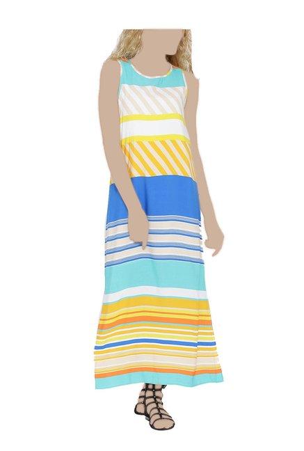327d6feef4c Buy United Colors of Benetton Multicolor Striped Maxi Dress for Women  Online   Tata CLiQ