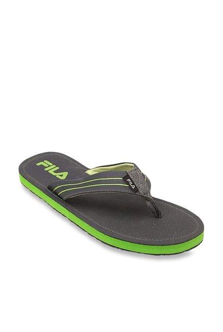 0bf0172ec986e0 Buy Fila Eddy Olive Flip Flops for Men at Best Price   Tata CLiQ