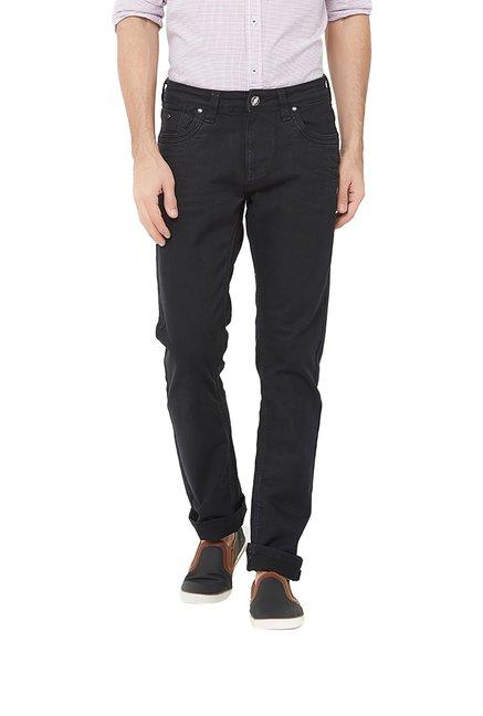 57f95224843f Buy Integriti Black Slim Fit Mid Rise Jeans for Men's Online @ Tata CLiQ