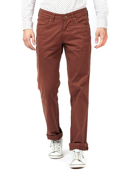 Integriti Brown Mid Rise Jeans