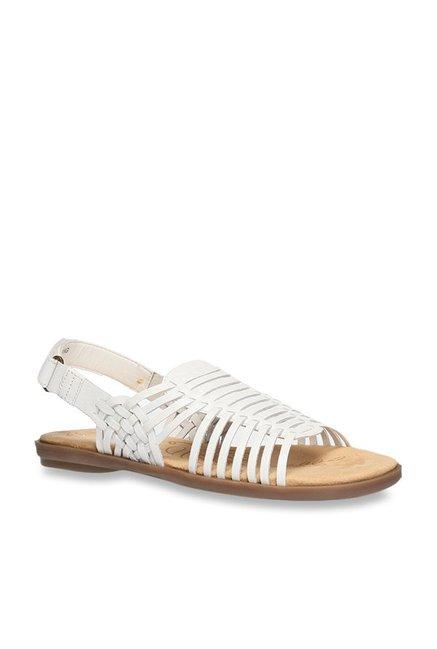 7e6cd9b03689 Buy Naturalizer by Bata White Back Strap Sandals for Women at Best Price    Tata CLiQ