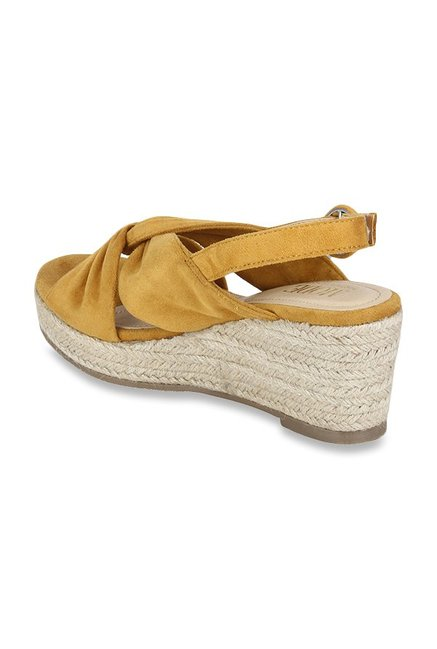 5079249d143 Buy Mode by Red Tape Mustard Yellow Espadrille Wedges for Women at ...