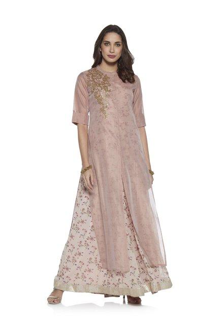 52a880aa0 Buy Vark by Westside Pink Kurta And Inner Maxi Dress Set for Women Online @ Tata  CLiQ