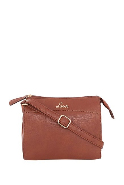e96fa5ff4e3 Buy Lavie Brown Solid Sling Bag For Women At Best Price   Tata CLiQ
